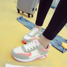 Color Blocks Lace Up Sneakers Light Weighted for Women (1 pair)