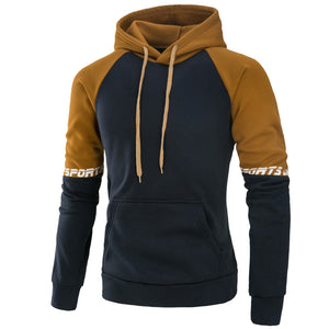 Splicing Cotton Casual Hoodies for Men