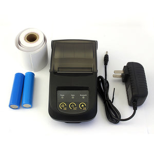 Portable Bluetooth Printer Take Out Small Paper Printer Qr Code Printing