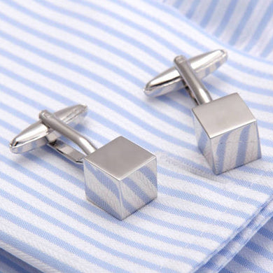 Pure Color Cubes Mini Size Cuff Links