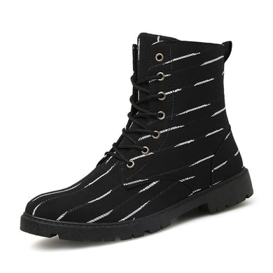 Lace Up Calf Length Boots Fashion Men Shoes (1 pair)