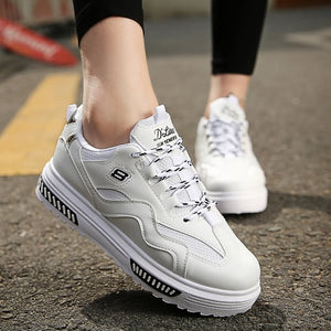 Thick Shoe Soles Fashion Casual Training Shoes for Women (1 pair)