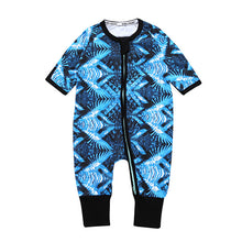 Blue Color Long Sleeves Baby's One Piece Rompers