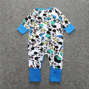 Cotton Long Sleeves Zip Up Baby's One-Piece Overall