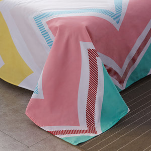 WAVE Pattern Bed Sheet Set Soft and Luxury Beddings Set