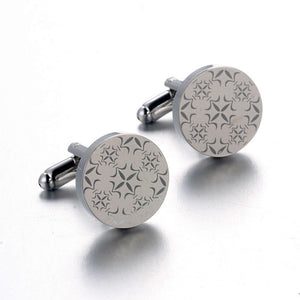 Round Pattern Printed Cuff Links