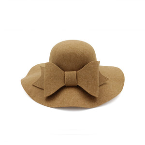 Women's  Bowtie  Graceful Temperament Warm Wind Dome Bucket Hat