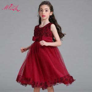 Bowknot Belt Multiple Color Mesh Dress for Girl