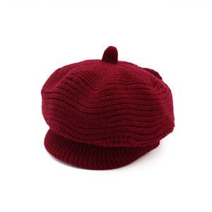 Women Autumn and Winter Plus Thickened knitted Wool Beret