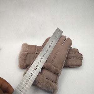 Women's Synthetic Suede Cashmere Lining Warm Gloves