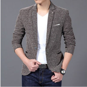 Thickened Suit Jacket with Jetted Pockets