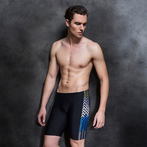 Men's Black Side Printed Shorts Comfort Racing Pants