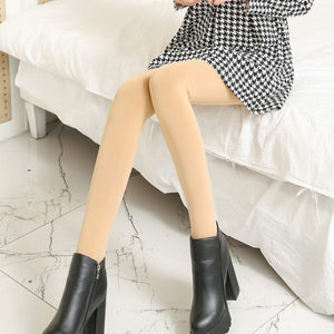 Women's Winter Fashion Solid Color Stirrup Stockings (1 pair)