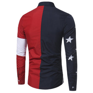 STAR STRIPES Forward Point Collar Casual Shirt for Men