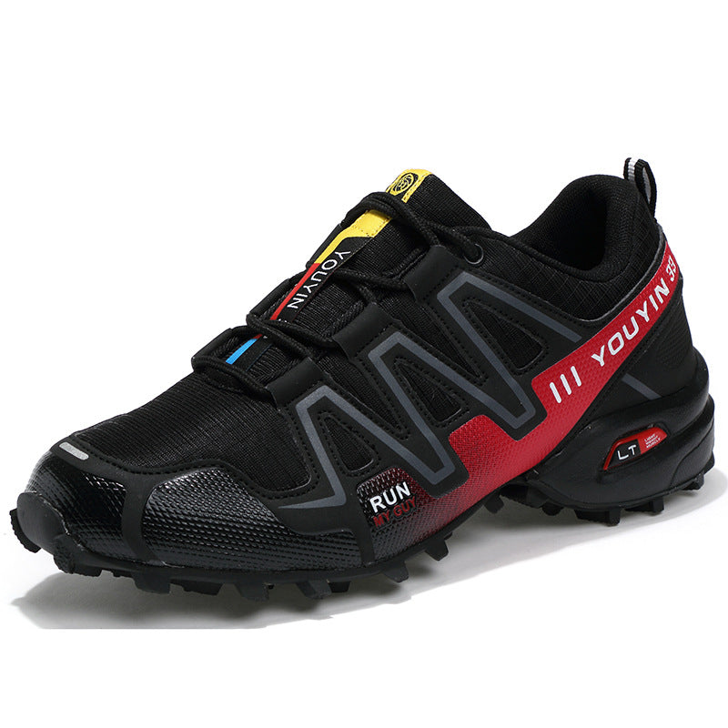 Men's Skid Resistance Lace Up Running Shoes