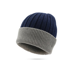 Fashion Two-color Splicing  Outdoor Warm Knitted Wool Hat