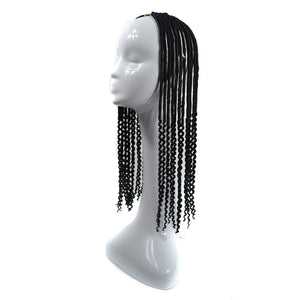 20inch  Long Curly Wig for Women Ombre Synthetic Senegalese Twist Crochet Braiding Hair Extension Havana Mambo Twist