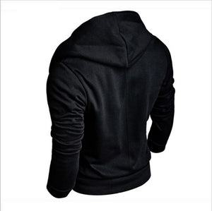 Men's fashion slim solid color long-sleeved Hoodie