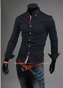 Single Color Thin Casual and Business Shirts for Men