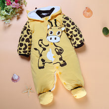 Thickened Baby's Footed Overall with Hoodies