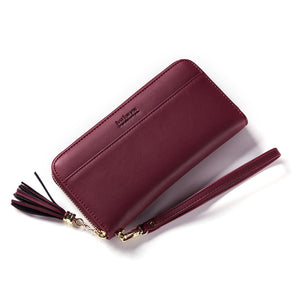 Ladies' Wallet And South Korea Edition Of Simple Tassel Long Zipper Large Capacity