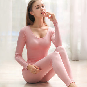 New Lace Warm Underwear Women'S Thin Base Slim Body Ladies Suits