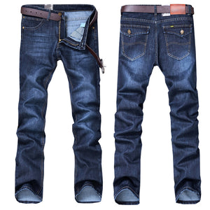 Stretch Normal Fitting Long Denim Jeans for Men