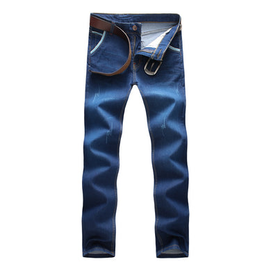 Casual Blue Denim Jeans All Season Matching Fashion Choice for Men