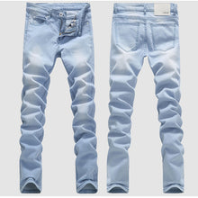 Off Color Light Blue Long Casual Skinny Jeans