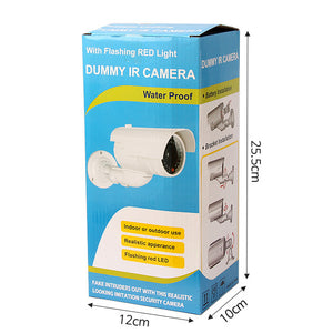 Outdoor Simulation Camera With Light Waterproof Fake Monitor Surveillance Camera