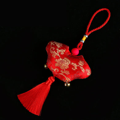 Special Handicraft Embroidered Copper Bell With Single Tassel For A Single Tassel