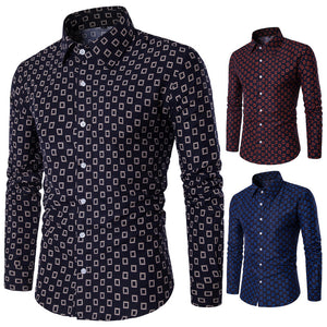 Check Blocks Pattern Dark Color Casual Shirts for Men