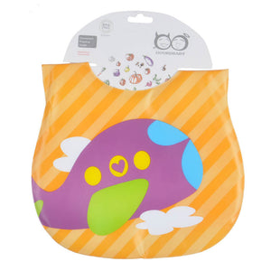 Baby Bib Waterproof with Food Catcher Pocket Adjustable Velcro