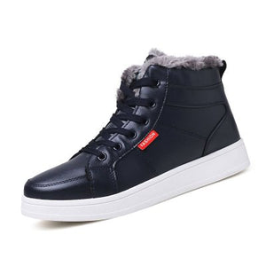 Fashion  Plus Cashmere Thick Cotton Winter Ankle Casual Boots for Men (1 pair)