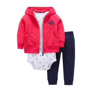 Baby Warm Long Sleeve Infant Romper Outfit Hoodie Cotton Suit