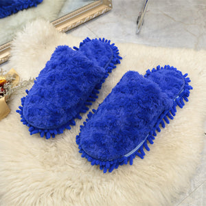 Women's Suede Flat Head Autumn and Winter New  Round Slippers