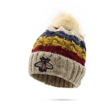 Winter Plus Thick  Embroidery Flanging Outdoor Sports Knitting Wool Hat