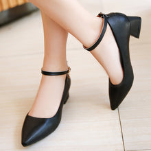 Autumn and Winter New Women's Non-slip Buckle with High-heeled Shoes(1 pair)