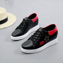 Inside Elevator Shoe Soles Lace Up Casual Shoes for Women