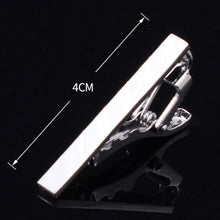 All Silver Men's Formal Tie Clips 4CM