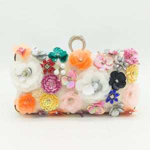 New Heavy Industry Flower Pearl Embroidery Banquet Bag Bride Bag High-End Socialite Handbag Chain Single-Shoulder Bag