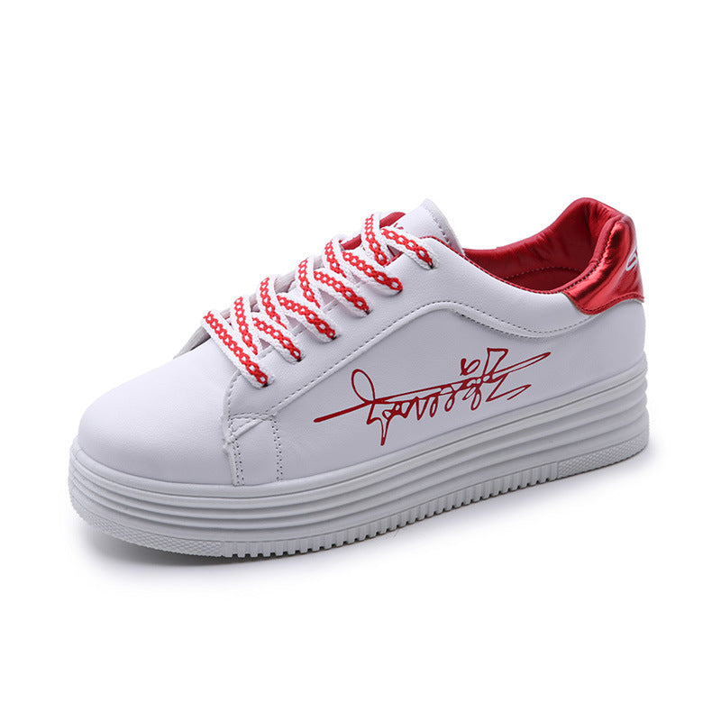 Women's Fashion Casual Shoes with Signatures Printed