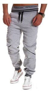 Stripes Pattern Waist Line Design Sports Pants with Drawstrings