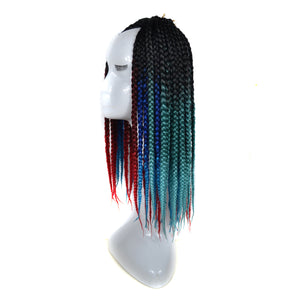Gradient Color Twist Crochet Braids Wigs Extensions Synthetic Hair African braid Dreadlocks Red Black