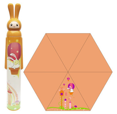 Orange Rabbit Design Bottled Easy-Carry Umbrella