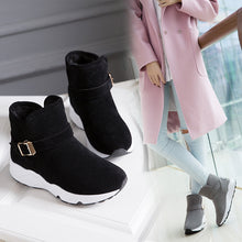 New Women's Round Flat Low to Help Women's Boots Non-slip Warm Suede Pedal Boots(1 pair)