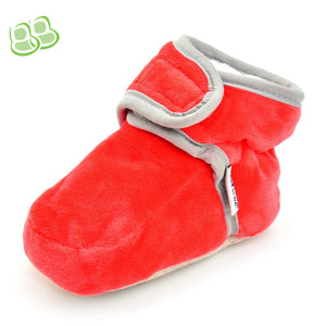 Candy Color Polar Fleece Thick Warm Velcro Toddler Shoes