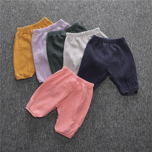 New summer baby trousers children pants children soft cotton crepe Trouses 6 colors can choose children clothing
