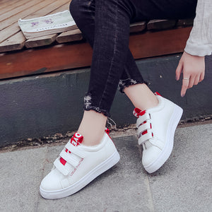 Strap Shoe Tongue Velcro Closure Fashion Casual Shoes