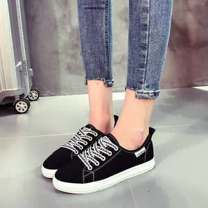 Chains Pattern Shoelaces Solid Color Casual Shoes